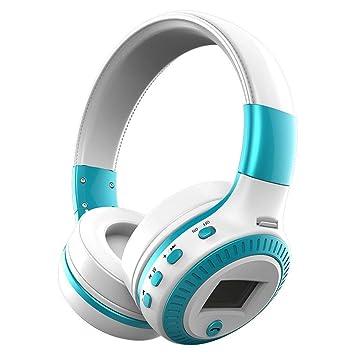 Delicacydex B19 Auriculares Bluetooth Pantalla LCD Auriculares estéreo inalámbricos Auriculares con micrófono Ranura para Tarjeta Micro