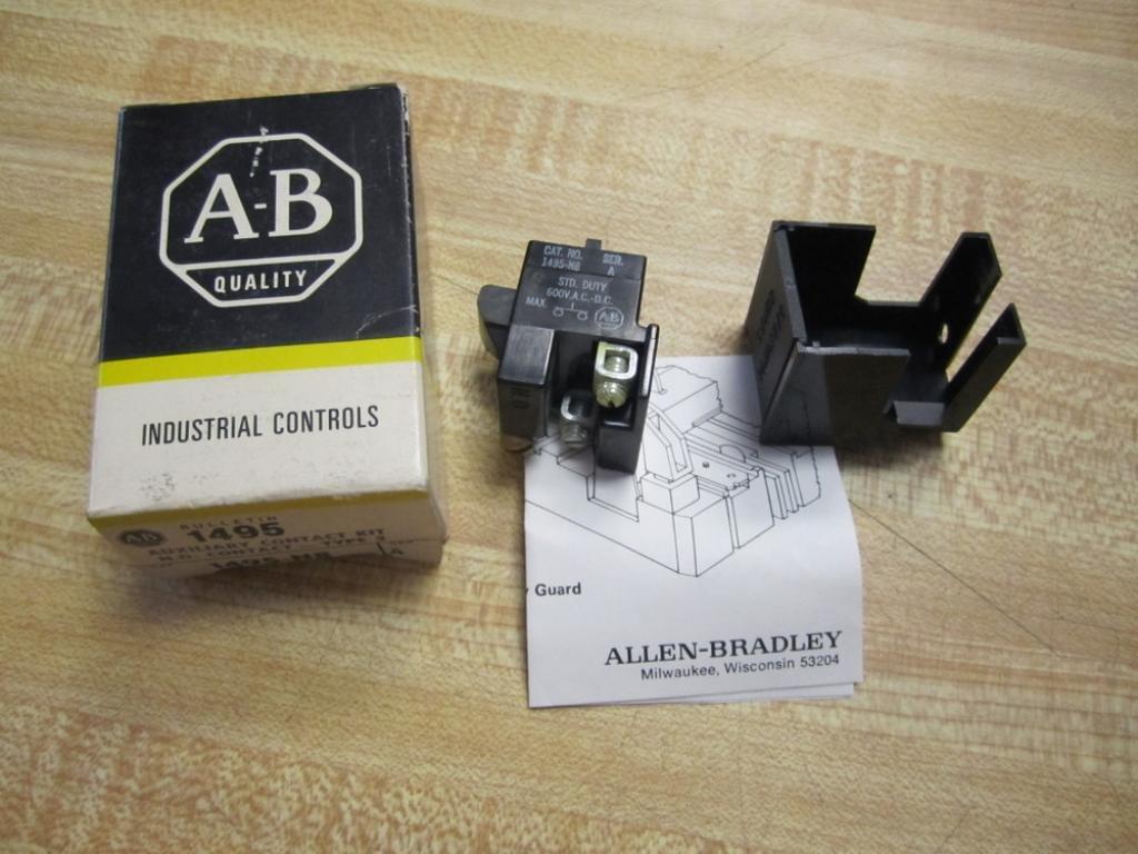 Allen Bradley 1495-N8, Auxiliary Contact Kit, Standard Duty 600V Ac-Dc 1495-N8