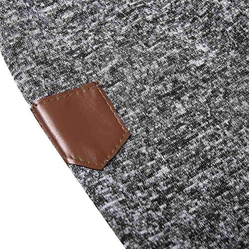 Autumn Dark Long Blouse Grey Outwear Hooded Zipper Sleeve Tops Shirt Sweatshirt Sweater Manadlian Warm Men With Men's Stylish nwXFaqxY