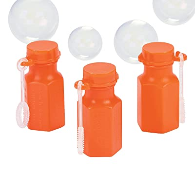 Orange Hexagon Bubble Bottles - Toys - 48 Pieces: Toys & Games