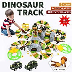Love Jurassic Dinosaurs? Love battery operated vehicle? Love creative building stuff? How You Can Spend Fun Time With Your Little One? TEMI Ultimate Dinosaur Track Toy Set With 348 Unique Pieces Meet All Your Entertainments. This Train Set in...