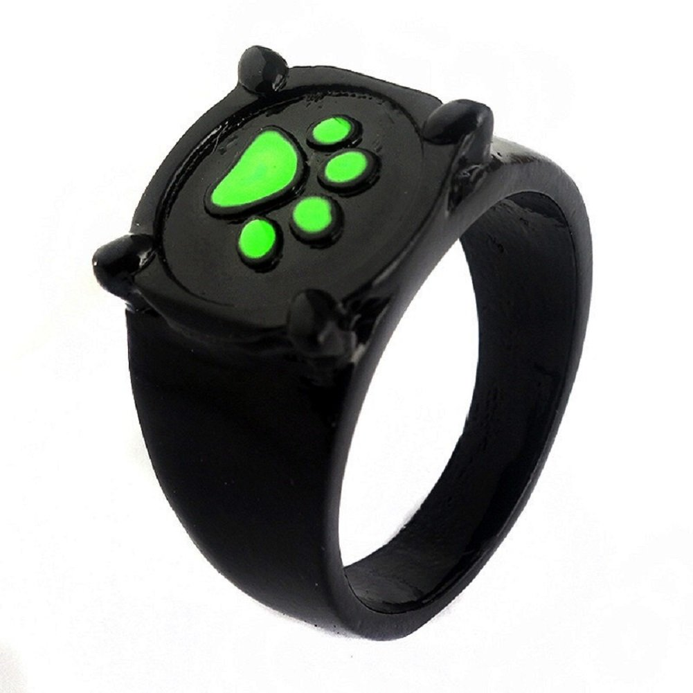 Miraculous Ladybug Rings,Earrings,Necklace,Cufflink Cat Noir Cosplay Jewelry Blackgreen Ring