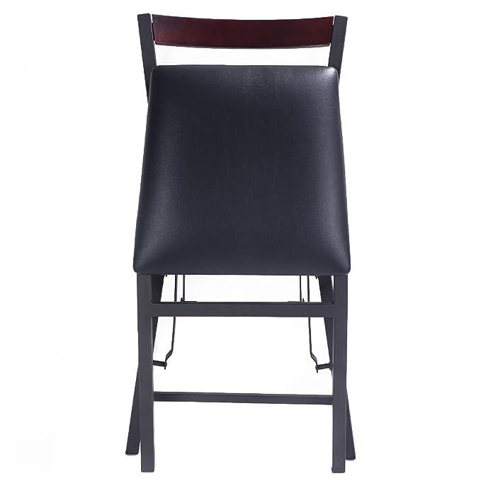 Amazon.com: Juego de 2 sillas de comedor silla plegable casa ...
