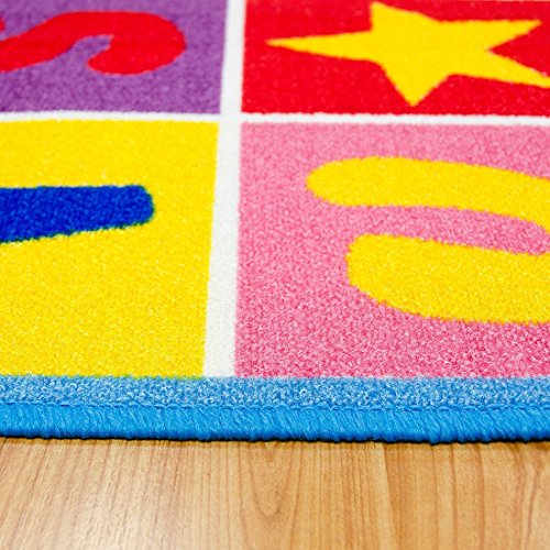 Kids / Baby Room / Daycare / Classroom / Playroom Area Rug. Educational. Letters and Numbers. Fun. Non-Slip Gel Back. Bright Colorful Vibrant Colors (8 Feet X 10 Feet) by iSavings (Image #3)