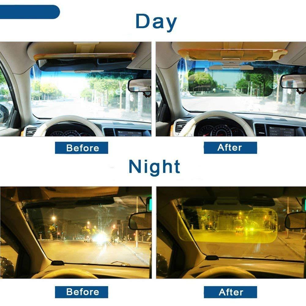 VATI Sun Visor Extender,Car Day and Night Anti-Glare Visor Size Not Suit SUV 2 in 1 Automobile Sun Anti-UV Block Visor Non Glare Anti-Dazzle Sunshade Mirror Goggles Shield for Driving Goggles