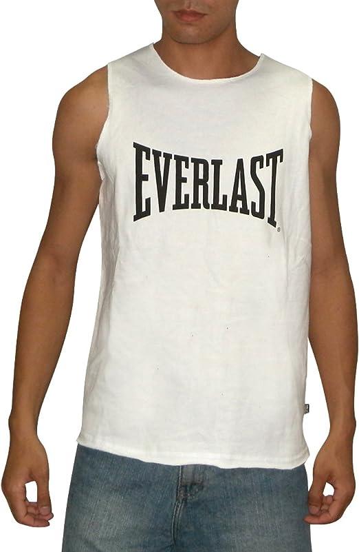 Everlast Vest Mens Gents Muscle Tank Top Crew Neck Ventilated Lightweight Cotton