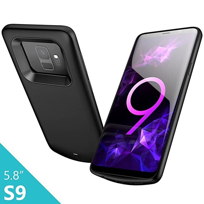 new styles ef0f1 19d9b Elebase Galaxy S9 Battery Case, External Rechargeable Power Bank  Charger,4700mAh Protective Portable Backup Charging Case Pack for Samsung  Galaxy ...