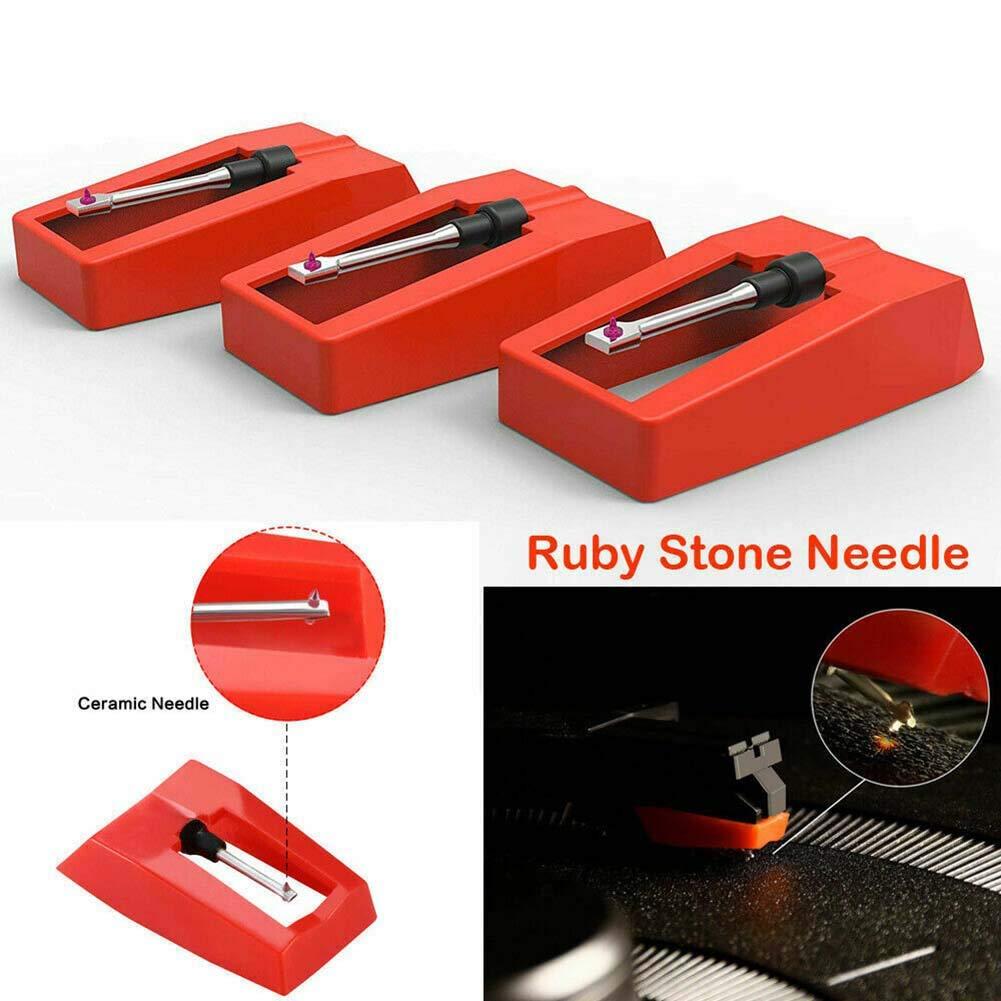 CplaplI 3 Piezas Ruby Stylus Stylus De Gramófono Cabeza Magnética ...