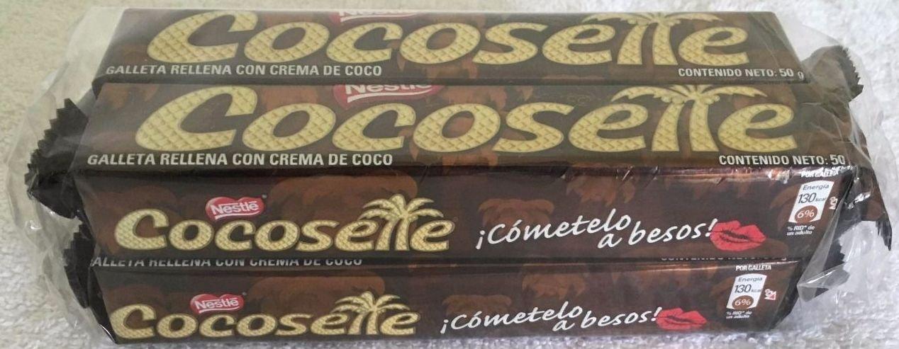 4 Pack Nestle Cocosette Galleta Rellena De Coco 50grs each by Cocosette