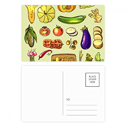 DIYthinker Verduras berenjena calabaza jengibre tarjetas ...
