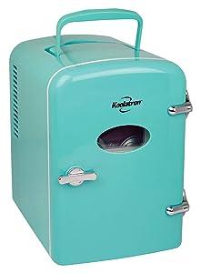 Koolatron KRT04-G Portable Retro Cooler, Compact, green