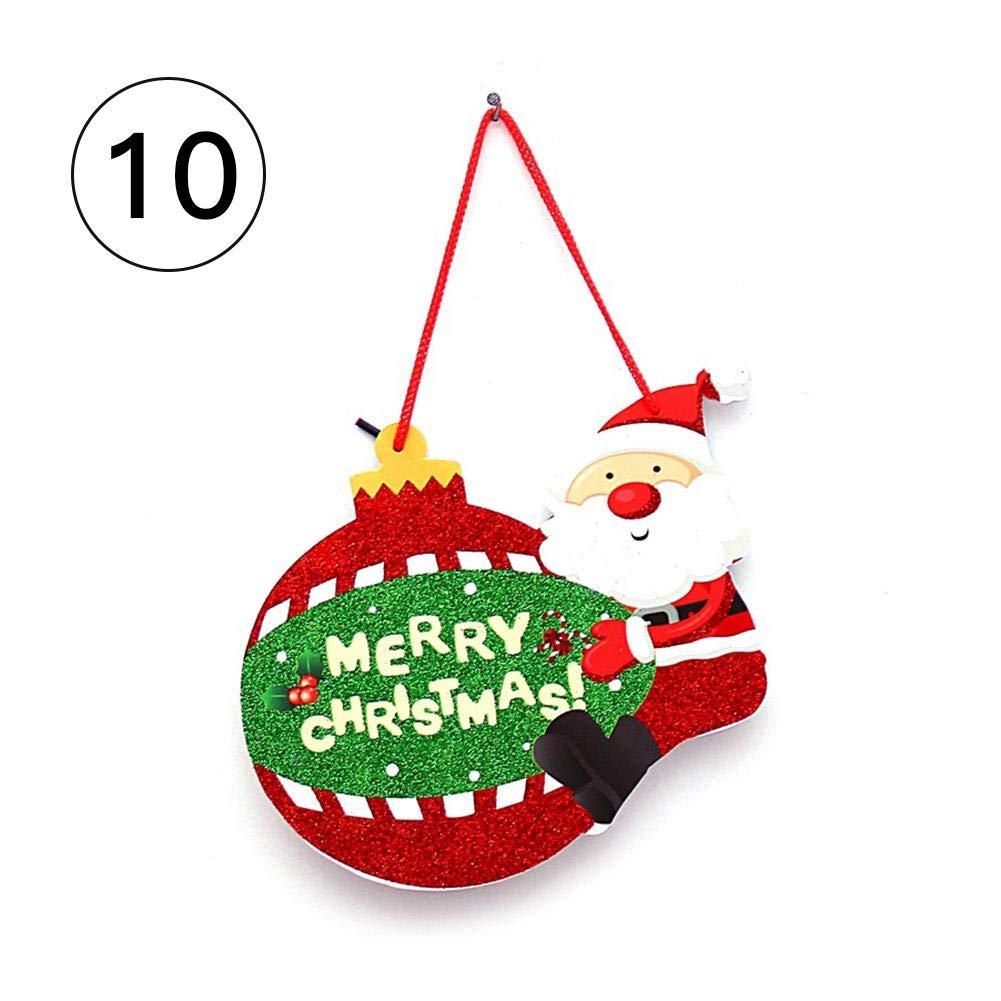 earlyad Étiquette De Noël Décoration Bulle Bonhomme De Neige Cloche Père Noël Porte De Noël Fenêtre en Verre Mur Décoration À La Maison Pendentif