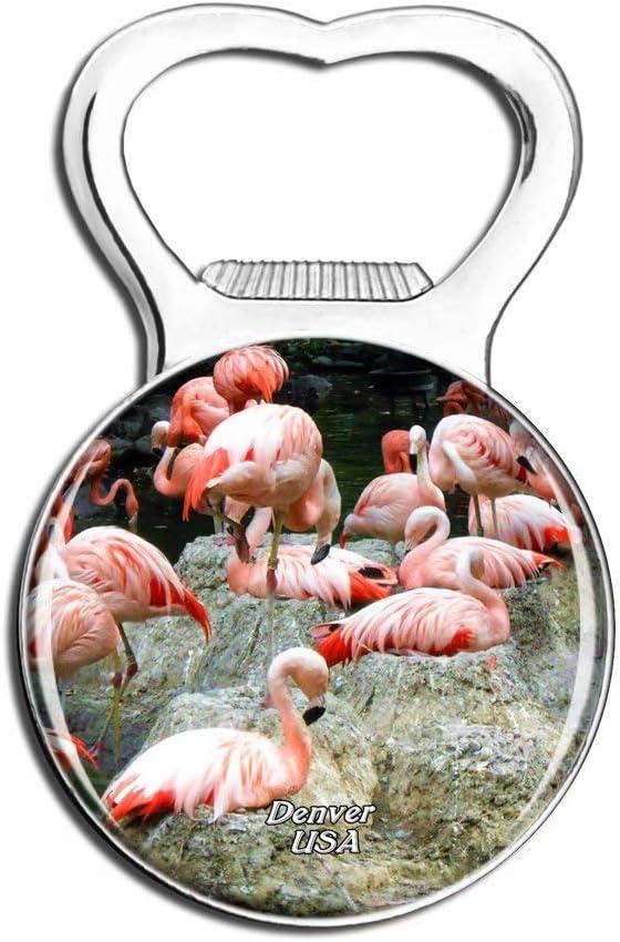 Weekino USA America Flamingo Denver Zoo Fridge Magnet Bottle Opener Beer City Travel Souvenir Collection Strong Refrigerator Sticker