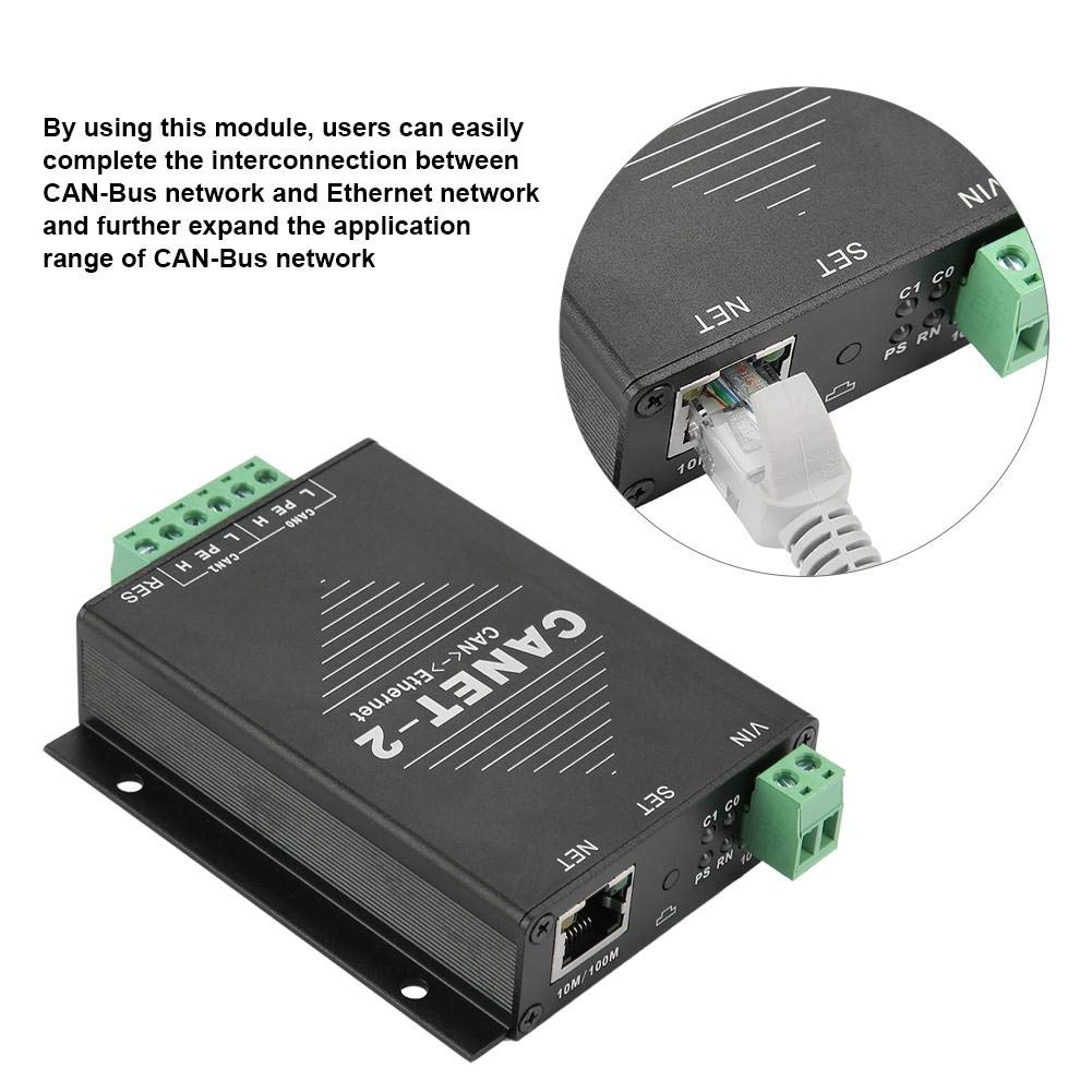 TCP IP CANET-2 Ethernet to CAN Interface Converter 2-Way Industrial Ethernet Adapter 2-Way CAN-Bus to LAN Data Adapter