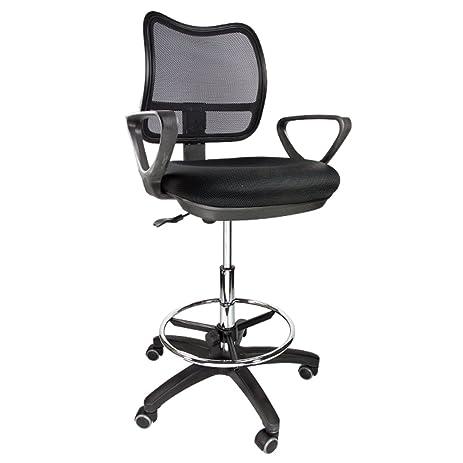 Apontus Drafting Chair Stool Armrest Ergonomic Mesh Adjustable Footring Arm