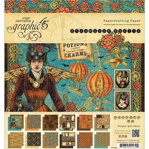 Graphic 45 Steampunk Spells Paper Pad, 8 by 8-Inch]()