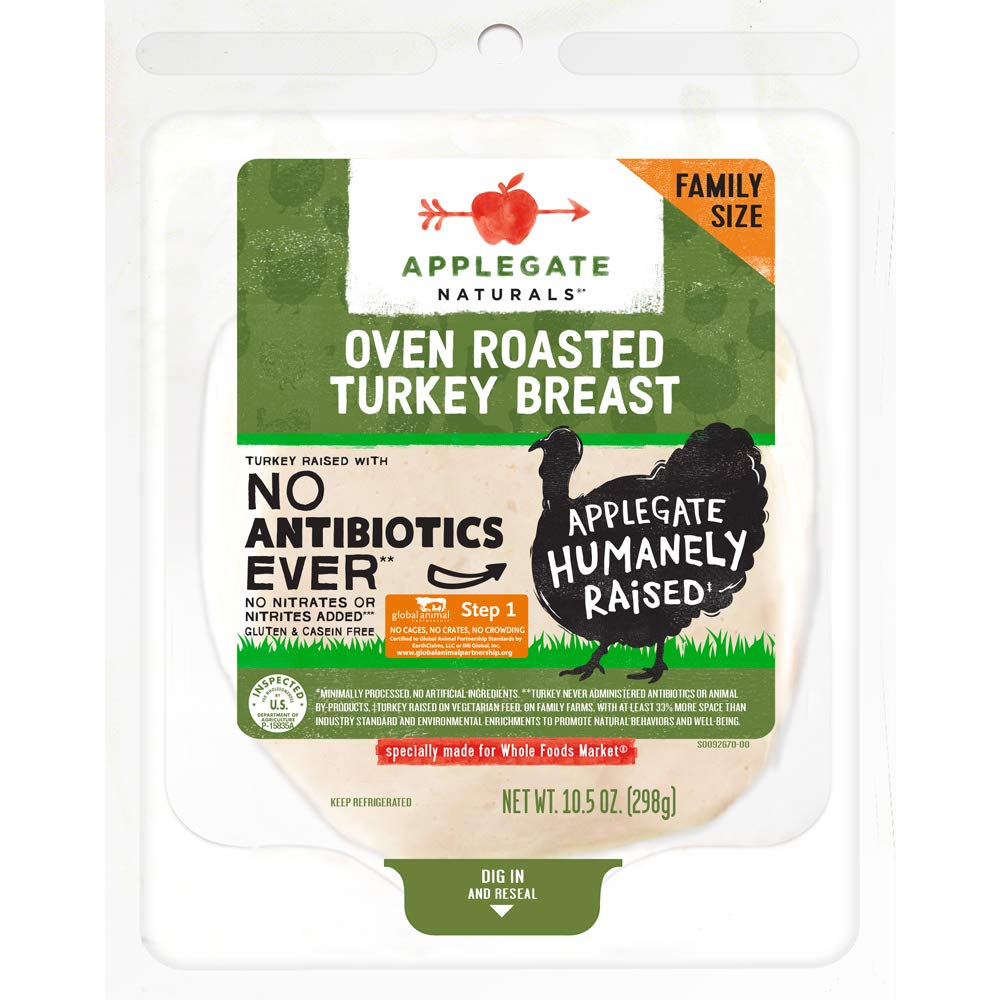 Applegate, Natural Oven Roasted Turkey Breast Family Size, 10.5oz
