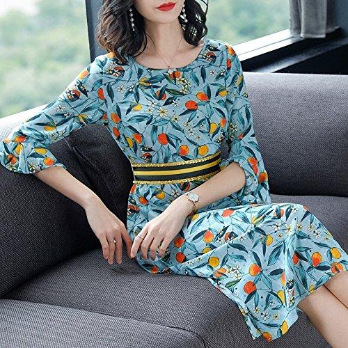 de Mot brise Green Mousseline Fleur Jupe Nouveau l't Un Jupe Robe Long S de Moyen MiGMV Robe 2018 twXq6q