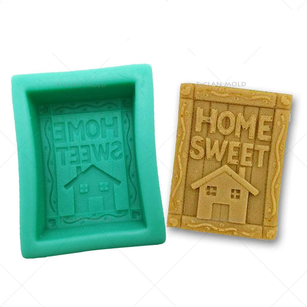 DIY House Silicone Mold for soap and Candle Home Sweet Salt Sculpture Egg agar Carving Mould Suitable Kitchen Cake Chocolate Baking S0248XW
