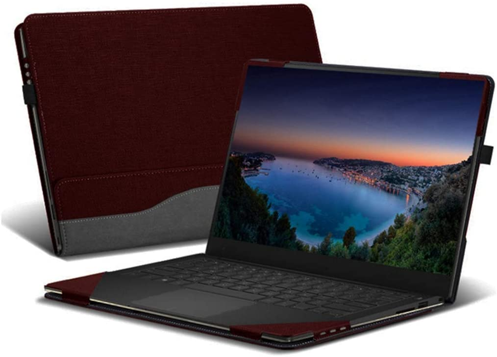"Heycase Case Compatible with Hp Spectre X360 15.6 inch, PU Leather Folio Stand Hard Shell Compatible for Hp Spectre x360 15t Touch/15-CH011NR/CH012NR/BL000 Series 15"" Case(NOT FIT AP000 Series),Red"