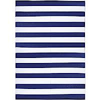 Green Decore Beach Premium Grade Stain Proof Reversible Plastic Outdoor Rug (180 X 270 cm, Classic Blue/White)