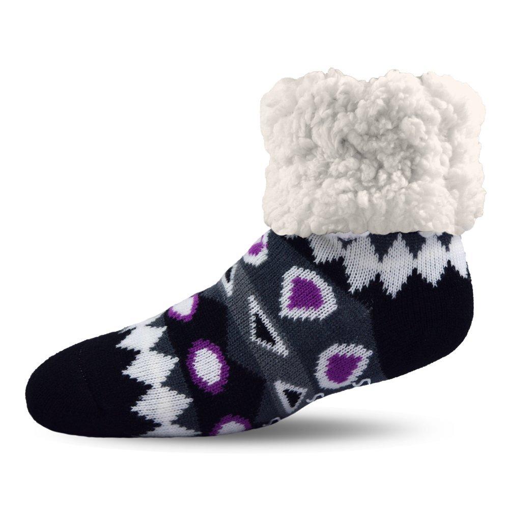 Pudus Unisex Classic Slipper Socks, Adult, Southwest Purple SW-PPL-1-C