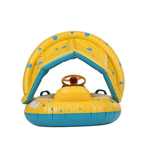 PMFSSummer Soft Boat Rider Flotante para Piscina Infantil ...