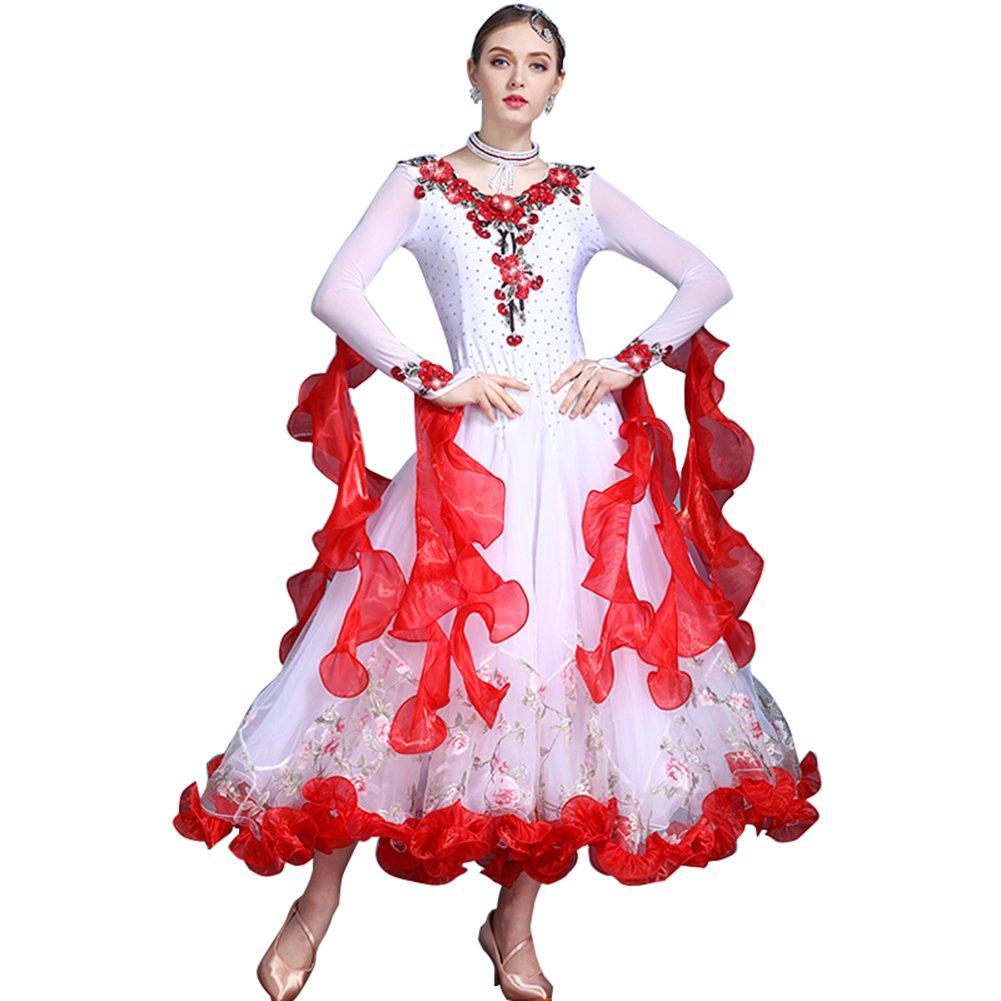 NAKOKOU Women\'s Ballroom Dance Competition Dresses Plus Size ...