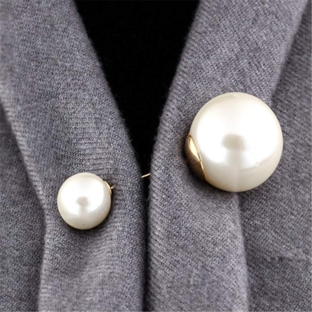 Ogquaton Creativo perla simple broches prendedores regalo de boda de Navidad para mujeres
