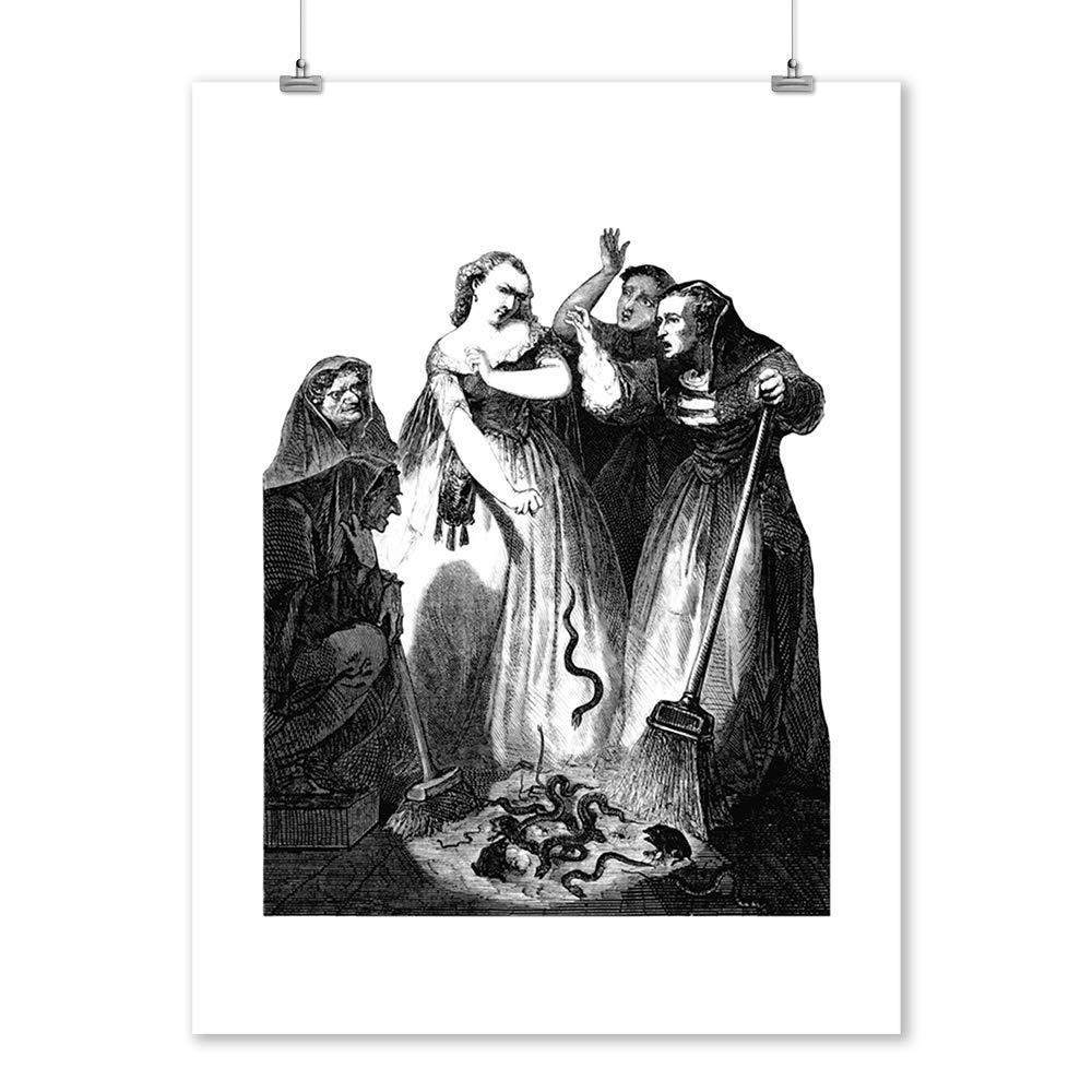 Amazon com: Salem, Massachusetts - Etching Of Witches - Illustration