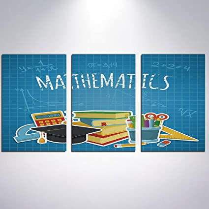 Amazon Com Canvas Wall Art Mathematics Classroom Decor Canvas