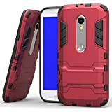 Heartly Graphic Designed Stand Back Case For Motorola Moto G3 / Moto G 3Rd Generation / Moto G Turbo - Hot Red