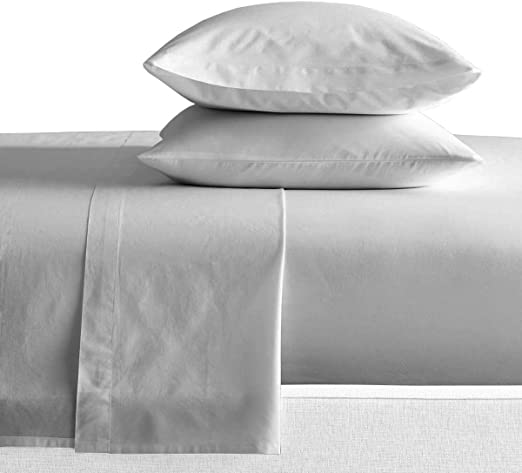 Luxury 100/% Cotton Bed Sheets 600 Thread Count Soft Solid Deep Pocket Sheets