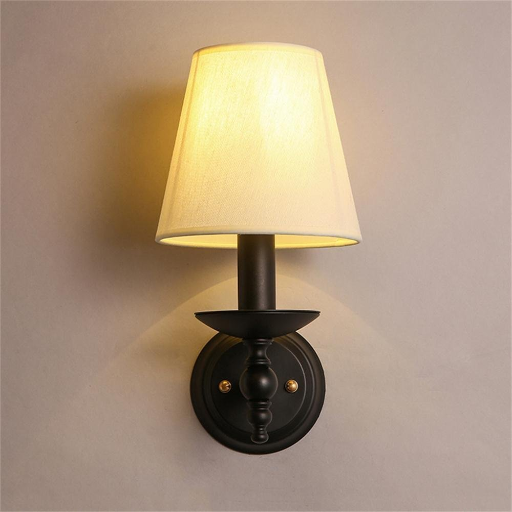 HOMEE Wall lamp- american country warm cloth bedroom bedside hallway hallway entrance single head wall lamp --wall lighting decorations by HOMEE