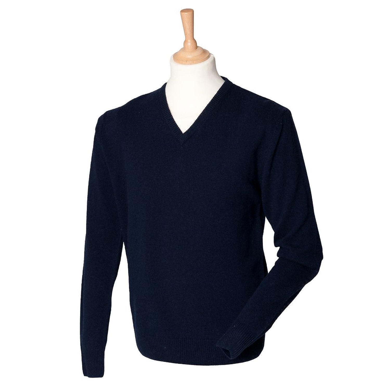 Henbury Lambswool v-neck jumper