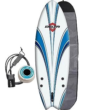 Alder Delta Hybrid Fish con forma de tabla de surf 182,88 cm - blanco