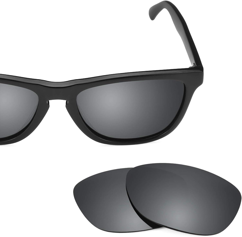 Revant Verres de Rechange pour Oakley Frogskins LX - Compatibles avec les Lunettes de Soleil Oakley Frogskins LX Chromé Noir Mirrorshield - Polarisés