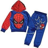 AEIL Boys Casual Chándal Sudaderas con Capucha Niños Traje de 2 Piezas Spiderman Cosplay Set Traje de Manga Larga Traje…