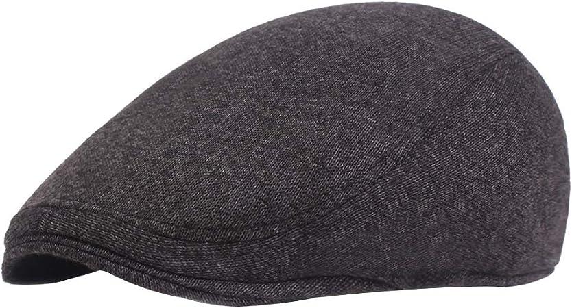 kentop pantalla Gorro Hombre Mujer Flatcap deslizante Gorro algodón Gatsby Tapa Golfista Gorro, color Negro, tamaño 55-59cm: Amazon.es: Hogar