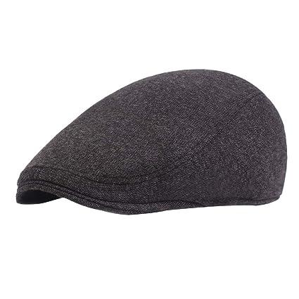 LAAT Gorros de Boina de Algodón Sombreros de Sol al Aire Libre Gorra Gatsby  Invierno Tendencia dd29e6be267