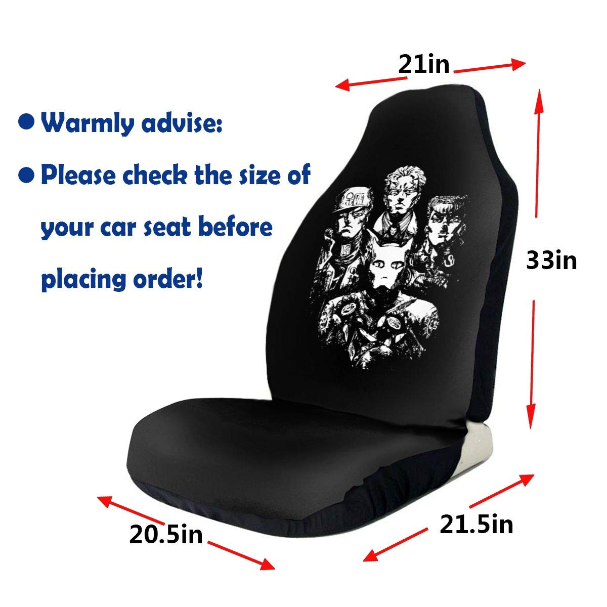 Strange Amazon Com Jojos Bizarre Adventure Car Seat Covers Auto Bralicious Painted Fabric Chair Ideas Braliciousco
