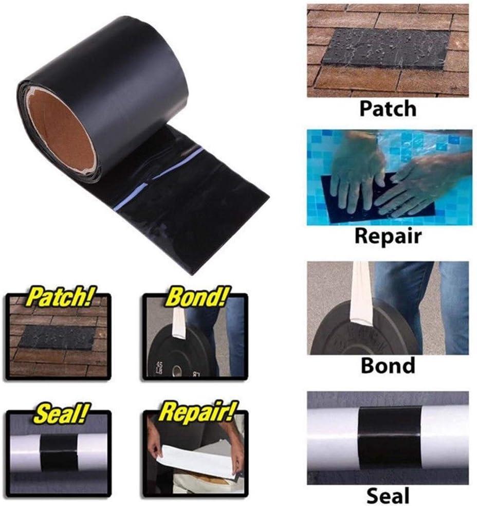 150x10cm Super Strong Fiber Wasserdichtes Klebeband Stop Lecks Seal Repair Tape Leistung Self Fix Tape Klebeband Office Color : Clear, Size : 1520mm