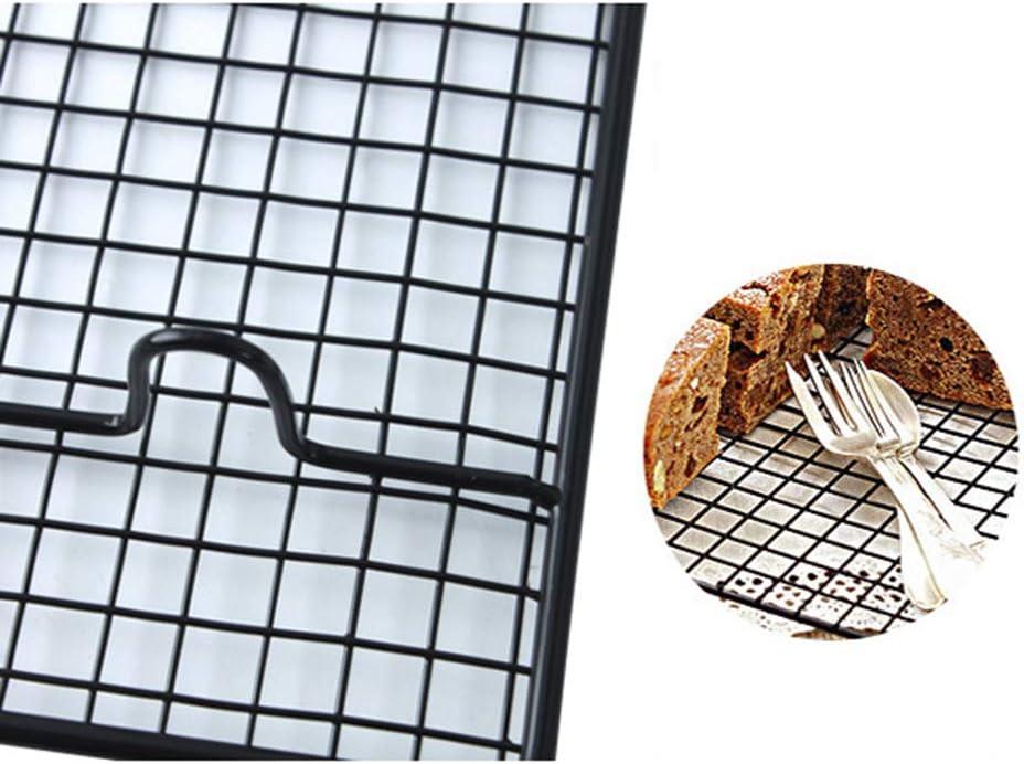 rongweiwang Acciaio al Carbonio Filo griglia Fredda Rack Tray Wire Griglia Fresco Barbecue Torta di Raffreddamento Mensola Antiaderente Torta Torta di Pane Teglia