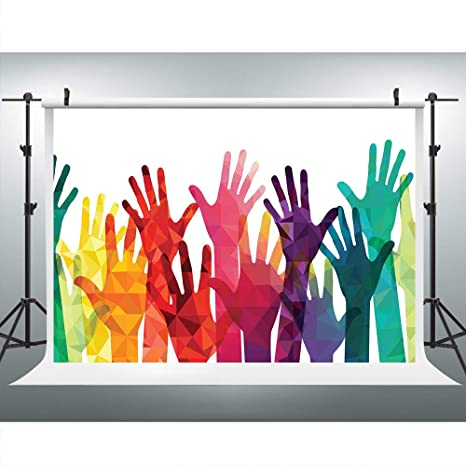 Colorful Hands Diversity Unity Photography Backdrop for Party, 9x6FT, Party  Banner Background, Photo Booth Studio Props LYLU551