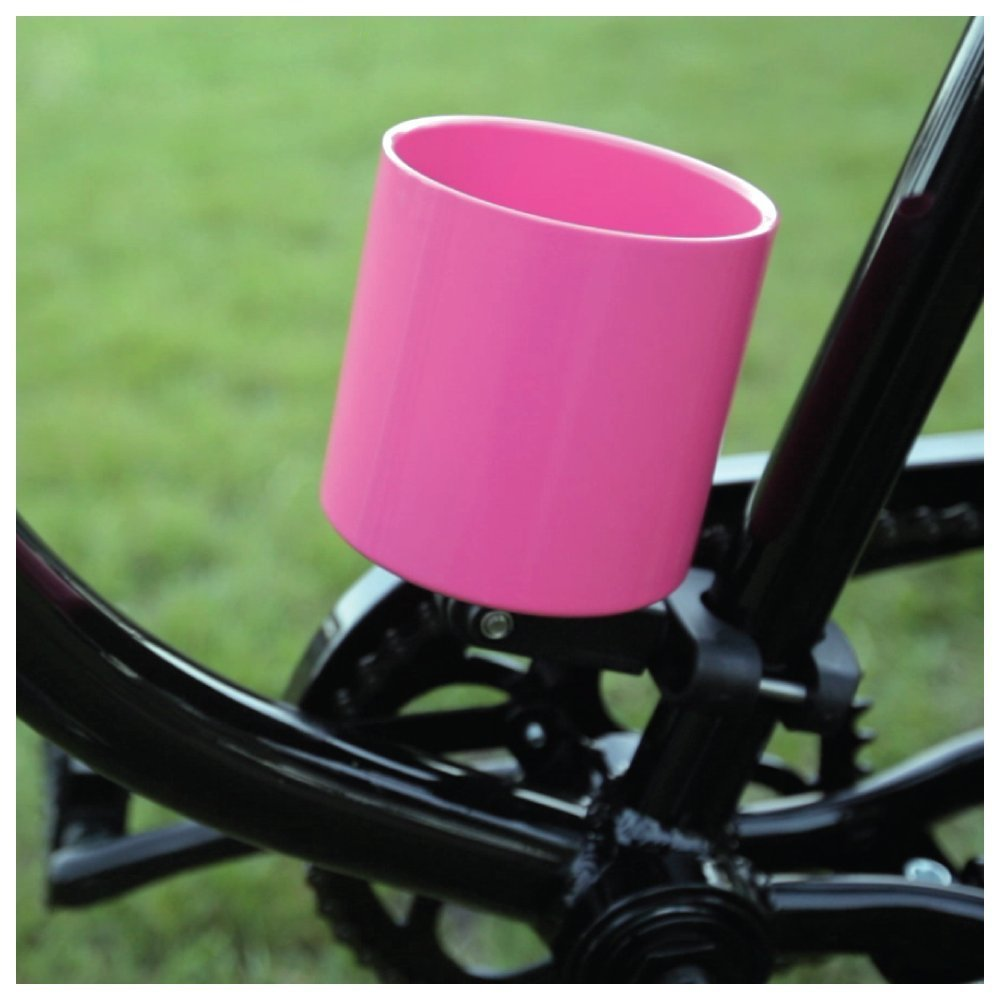 Kroozie Kroozercups Deluxe Bicycle Cup Holder 2.0 in Hot Pink