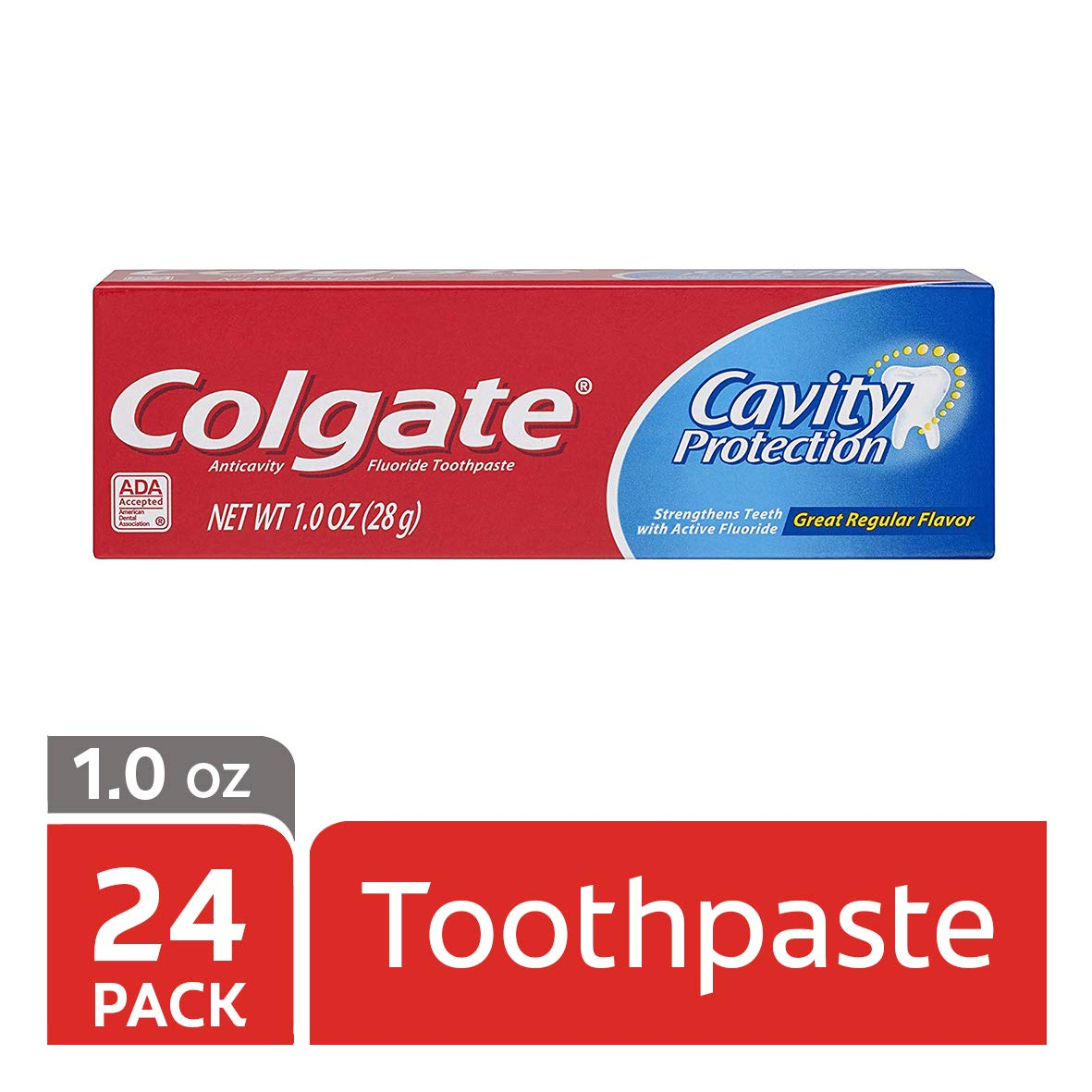Colgate Cavity Protection Toothpaste with Fluoride - 1 Ounce (Pack of 24)