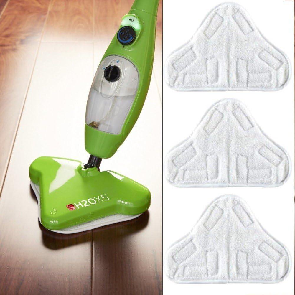Fast World Shopping - 3 paños de microfibra para mopa de suelo H2O X5 recambios de escoba a vapor: Amazon.es: Hogar