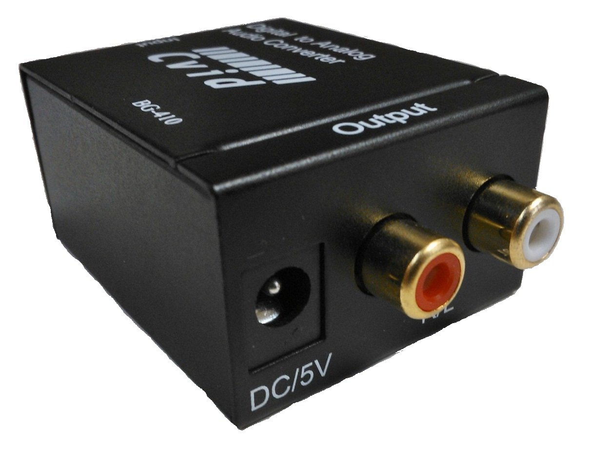 CKITZE BG-410 Digital Optical Coax to Analog RCA Audio Converter Adapter CVID