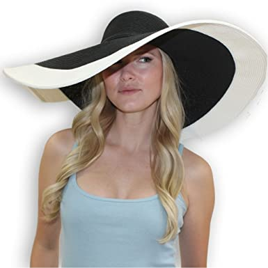 sungrubbies Rebecca 8 Inch Wide Brim Derby Sun Hat Large – UPF 50 Sun Protective Hat For Women
