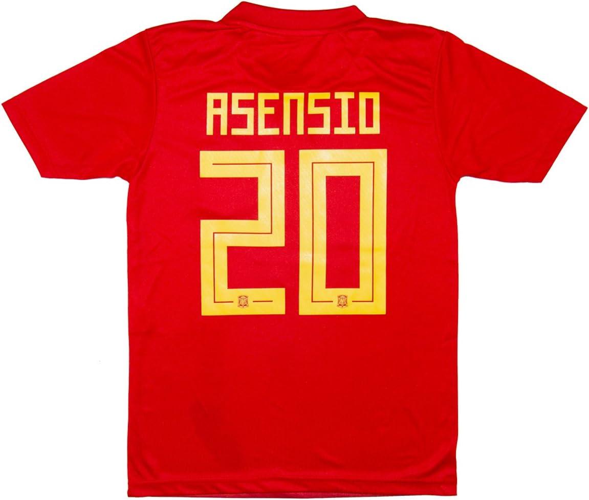 SVB España wm18 # 20 Asensio & # 7 Morata – Niños Camiseta y Pantalones, Asensio (Heim), 164: Amazon.es: Deportes y aire libre